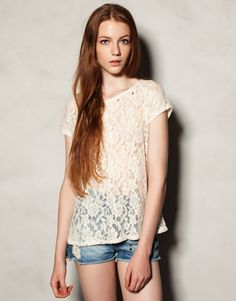LACE TOP - T-SHIRTS AND TOPS - WOMAN - Hungary