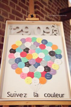 Wedding seating plan : follow the color to find your table
