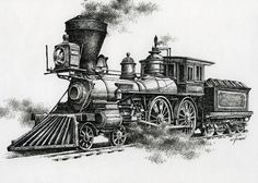 Classic Steam Painting  - Classic Steam Fine Art Print