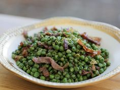 "Peas and Prosciutto (Wham Bam Thank You Lamb) - Guy Fieri, ""Guys Big Bite"" on the Food Network. Chef Recipes, Side Dish Recipes, Vegetable Recipes, Food Network Recipes, Healthy Recipes, Recipies, Healthy Habits, Dinner Recipes, Peas And Prosciutto Recipe"