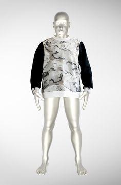 Marble Fantasy Sweater by Warp Hood