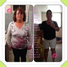 """Laurie Shoppa Cook posted this today!  """"Here is my measurements 1 year just thought I would share I really don't weigh or measure lol""""  Get your Skinny Fiber today and get great results!!! Money back guarantee!!! FREE AGELESS WITH SKINNY FIBER PURCHASE TILL THE END OF THE MONTH. http://www.mjwrecsics.sbcnewyearspecial.com MONEY BACK GUARANTEE"""