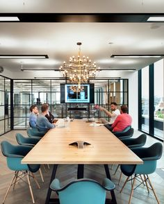 Meeting Rooms and BoardRooms >> Cool Meeting Spaces >> Question: When is a board. Ceo Office, Blue Office, Office Meeting, Meeting Rooms, Meeting Table, Office Interior Design, Office Interiors, Office Designs, Conference Room Design
