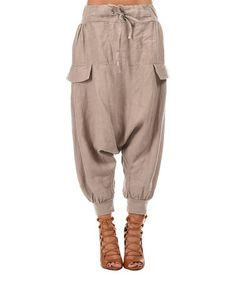 Look what I found on #zulily! Taupe Harem Pants #zulilyfinds