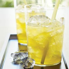 Lemon Grass and Ginger Iced Tea Recipe: Ingredients, 1 stalk fresh lemon grass/ cup sugar/ 7 thin slices fresh ginger/ 5 bags green tea/ Ginger Iced Tea Recipe, Iced Tea Recipes, Ginger Tea, Fresh Ginger, Ginger Lemonade, Ginger Drink, Drink Recipes, Lemongrass Recipes, Lemongrass Tea