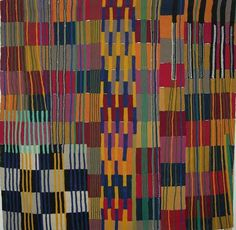 Teresa Lanceta: Trabajos / Tejidos / 2000-2007 / tejida abstracción (cuadrados)