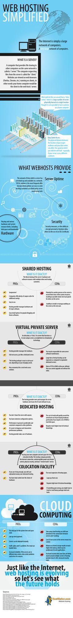 Alojamiento web simplificado #infografia #infographic #internet