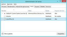 Cómo desactivar programas del inicio de Windows 8