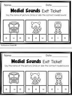 Literacy Exit Tickets