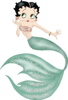 For 1,000's more #BettyBoop animated gifs and images, go to: http://bettybooppicturesarchive.blogspot.com/ Animated Mermaid Betty Boop