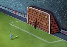 A Strikers Dilemma  - #illustration #art #design