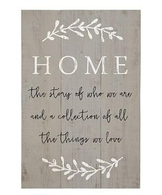 Look at this #zulilyfind! 'Home The Story' Wall Sign #zulilyfinds