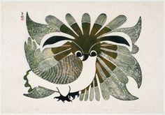 The Owl by Kenojuak Ashevak, 1969. Cape Dorset, Inuit | Carleton University Art Gallery