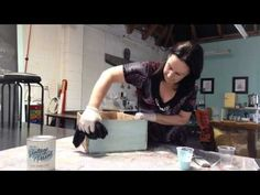How to Whitewash with Vintage Paint - YouTube