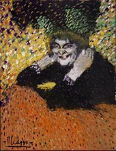 PICASSO/woman with gloves oil on cardboard, 67x52,1 cm 1901