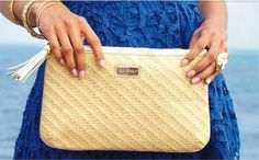 Lilly Pulitzer Summer '13- Patio Clutch in Gold Metallic