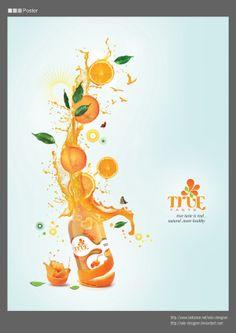 Fruit Juice Branding by Soha El Nassag, via Behance