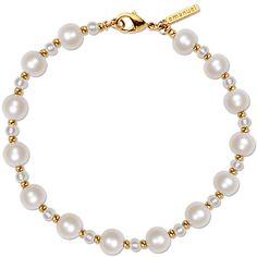 Sanborns en Internet - -Pulsera en dorado con perlas