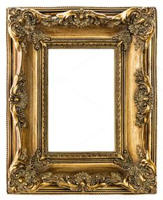 Golden picture frame JPG by LiliGraphie on Creative Market Antique Picture Frames, Picture Frame Decor, Gold Picture Frames, Vintage Picture Frames, Antique Pictures, Antique Frames, Old Frames, Vintage Frames, Shabby Chic Frames