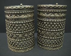 Central Asia   Silver pierced bracelets   19th century   3,600£