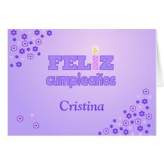 Feliz cumpleanos personalized spanish birthday card - click to get yours right now!