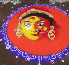 Get simple rangoli designs for Dussehra and Navratri. Make these easy rangoli designs for Dussehra; create beautiful, divine goddess Durga with rangoli. Divine Goddess, Durga Goddess, Rangoli Ideas, Simple Rangoli, Beautiful Rangoli Designs, Kolam Designs, Navratri Festival, Indian Rangoli, Digital Art Tutorial