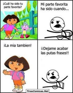 Cereal Guy y Dora la exploradora