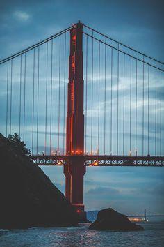 Golden Gate with Bay Bridge in foreground