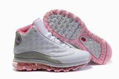 Buy Women s Nike Air Max Jordan 13 Shoes White Dark Grey Light Pink Online  KjrSi from Reliable Women s Nike Air Max Jordan 13 Shoes White Dark  Grey Light ... 573b041a02