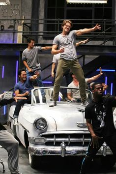 See Carly Rae Jepsen, Julianne Hough and more in exclusive behind-the-scenes photos as they rehearse for Fox's 'Grease: Live! Grease Live, Aaron Tveit, Theatre Nerds, Musical Theatre, Theater, Grease Is The Word, Grease Costumes, Carly Rae Jepsen, Le Moulin