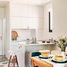 Cocinas pequeñas y alargadas: la distribución perfecta