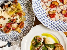 The Hottest Restaurants in Manhattan Right Now, March 2020 Manhattan Restaurants, Houston Restaurants, Restaurant New York, Chinese Restaurant, Octopus Carpaccio, Pickled Eggplant, Italian Cocktails, Walnut Pesto, Roasted Cherry Tomatoes