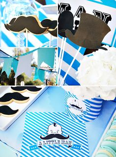 Little Man Moustache Party {Boys Baptism}