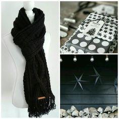Wintersjaal uit het boek Puur Haken in het zwart, gehaakt op aanvraag. Heb je ook een leuke sjaal gezien en wil je die in een kleur die bij…
