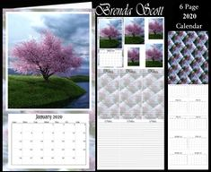 - 2020 Mini Calendar You get 6 pages Page 1 - Topper with pyramage Page 2 - Matching note paper to put inside Page 3 - P. Vintage Horse, 2019 Calendar, Blossom Trees, Calendar Design, Note Paper, Paper Background, When Someone, Craft Fairs