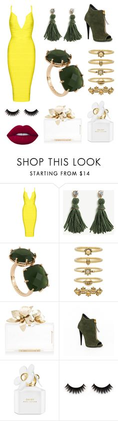 """Untitled #51"" by asd090 ❤ liked on Polyvore featuring Ann Taylor, Les Néréides, Luv Aj, Marc Jacobs and Lime Crime"