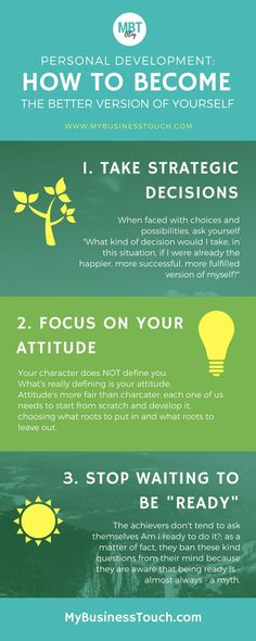 Infographic on one of the most successful and proven personal development strategy: how to become the better version of yourself in three powerful steps! To get access to extra tips on personal develo (Step Quotes Tips) Personal Development Books, Self Development, Life Skills, Life Lessons, Professional Development, How To Better Yourself, Best Self, Self Esteem, Self Improvement