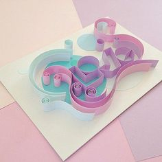 Quilled Typography by Ashley Chiang - Love