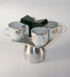 Vintage Cafetière / Cafetière - fabriqué en Italie - 4 tasses