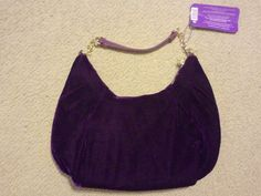 LUCKY BRAND LUCKY DARLING VELOUR PURPLE PURSE NWT #LuckyBrand #Hobo