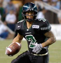 Chad Owens from his UH Warrior days. Hawaii Athletics, Hawaii Rainbow Warriors, State Game, University Of Hawaii, Fresno State, New England Patriots, College Football, Athletes, Football Helmets