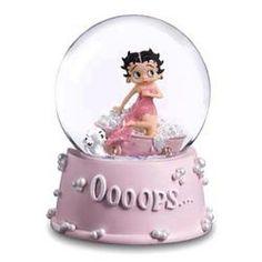 Betty Boop Ooops Bath Musical Waterglobe