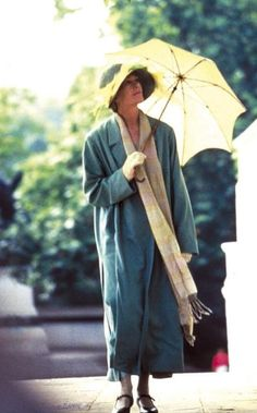 "Vanessa Redgrave is a steller English actress and working an umbrella in the BBC cinematic offering of ""Mrs."" Sensing a theme? Edwardian Costumes, Vanessa Redgrave, Brollies, My Fair Lady, Virginia Woolf, Winter Is Here, English Actresses, Bloomsbury, My Favorite Music"