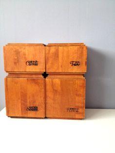 Baribo-Maid Maple Wood Canister Set Modern Danish by GingerNIrie