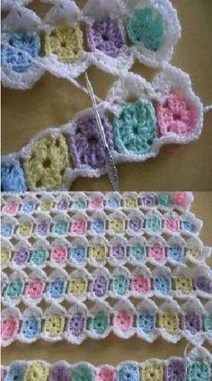 Crochet Scarf Easy, Crochet Square Blanket, Crochet Baby Blanket Free Pattern, Crochet Pig, Crochet Bedspread, Baby Afghan Crochet, Crochet Quilt, Granny Square Crochet Pattern, Crochet Squares
