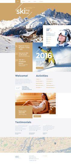 Ski Resort Website Template  http://www.templatemonster.com/website-templates/skiing-website-template-58324.html