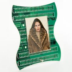 photo frame from recycled computer parts
