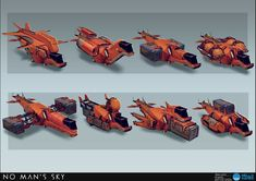 NMS Spaceships by Beau Lamb on ArtStation. Space Ship Concept Art, Concept Ships, No Man's Sky, Stargate, Starship Concept, Sci Fi Spaceships, Spaceship Design, Aircraft Design, Space Crafts