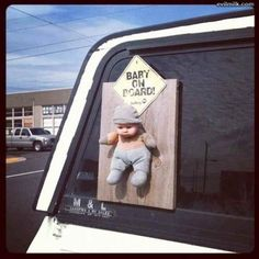 Baby, on board.