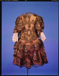 Theatre costume, Italy, mid-18th century via Victoria & Albert Museum.